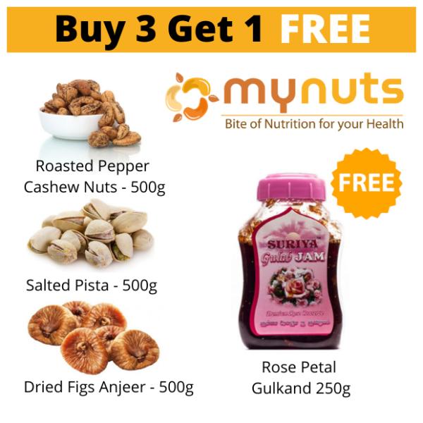 Mynuts Buy 3 Get 1 Free