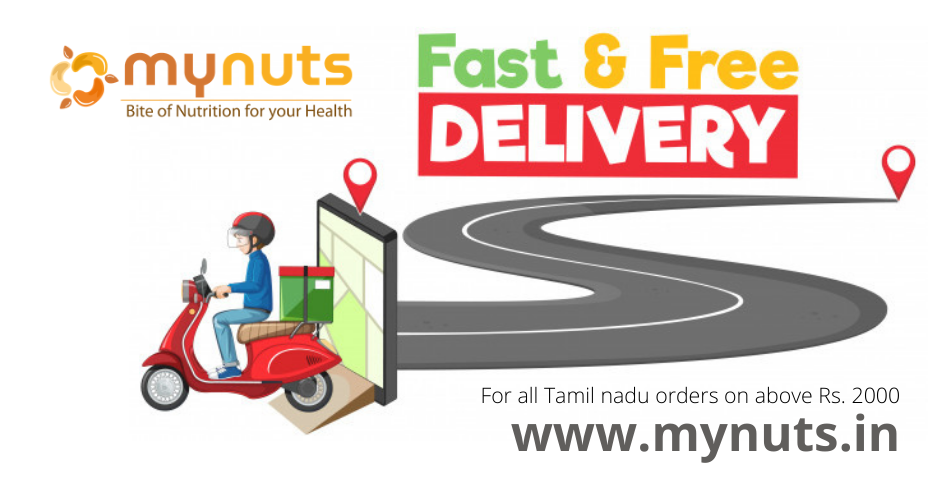 Mynuts Fast and Free Delivery over Tamil nadu