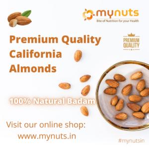 100% Natural Badam, California Almonds Suppliers