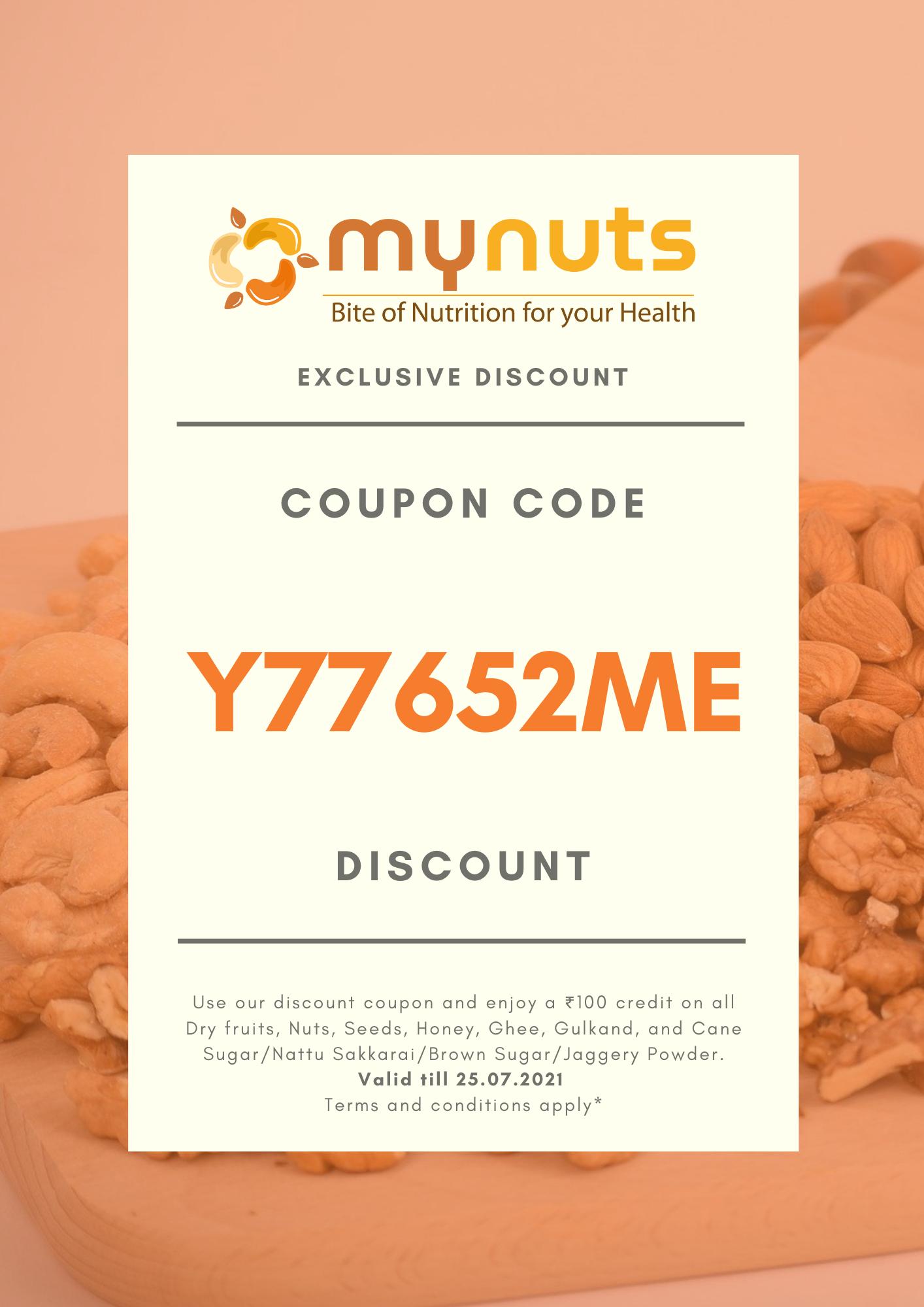 Weekly Mynuts Coupon Code 17.07.2021 till 25.07.2021