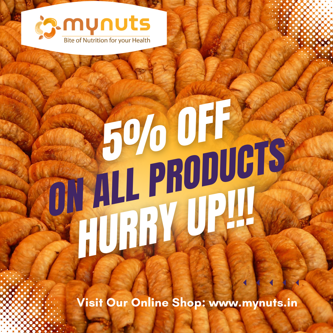 Mynuts Offer 5% OFF ON ALL PRODUCTS
